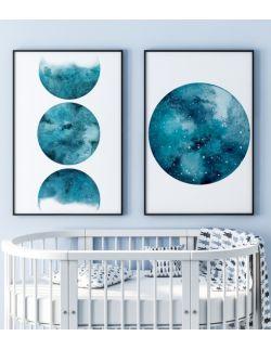 Kolekcja autorskich ilustracji - Planet Blue. Sky High.
