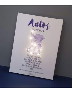 ŚWIECĄCY obraz lampka modlitwa anioł prezent od chrzestnej imię dziecka