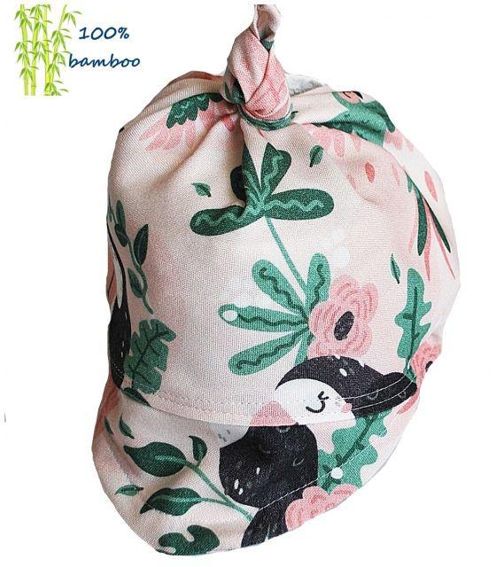 Chustka z daszkiem Bambusowa Tukany