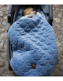 Be velvet! Śpiworek zimowy - denim (newborn 0-12mcy)