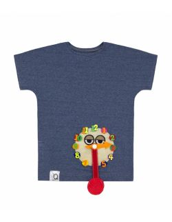 Koszulka dziecięca z aplikacją zegara TIK-TAK