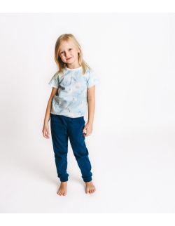 Piżamka dziecięca- koszulka jelonki, morskie spodnie.