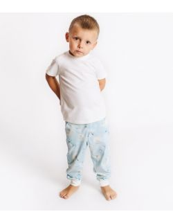 Piżamka dziecięca- koszulka ecri, spodnie jelonki.