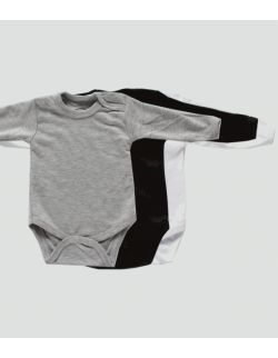 Body niemowlęce z długim rękawem - gładkie