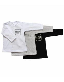 Koszulka niemowlęca z długim rękawem - alfabet
