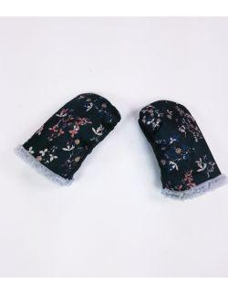 Rękawice do wózka leśne kwiaty