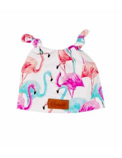 Czapeczka KOKONIK, flamingi z uszkami