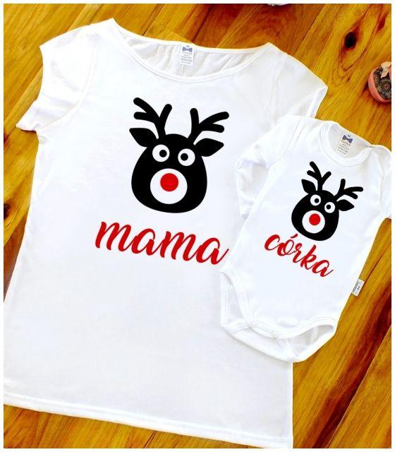 Zestaw MAMA+CÓRKA Renifery na Święta