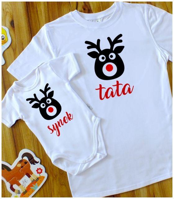Zestaw TATA+SYN - Renifery na Święta