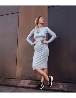 Sukienka ciążowa i do karmienia TIA GRAY DRESS - LONG