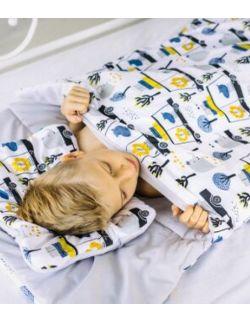 śpiworek z ociepleniem Junior bawełna Samochody + poduszka