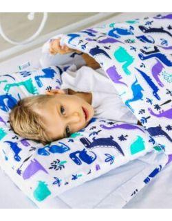 śpiworek z ociepleniem Junior bawełna Dinozaury