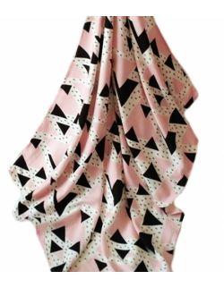 Otulacz bambusowy + podusia trójkąty  80x100cm