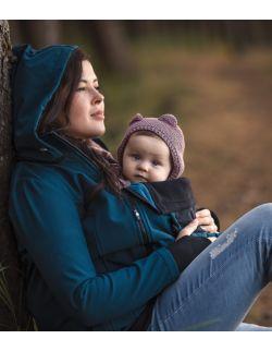 Kurtka softshell ciążowa oraz do noszenia dziecka NP17 - butelkowa zieleń