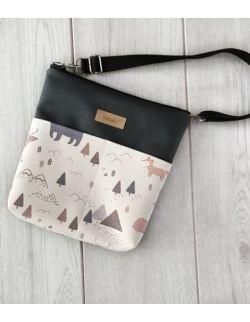 torebka dla dziewczynki Ninki® ekoskóra (zwierzątka z górami)