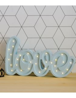 Napis Love Lampa Lights My Love