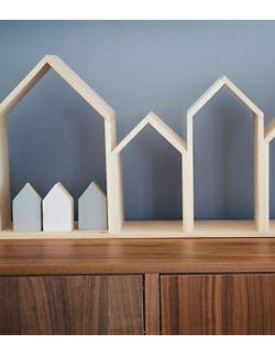 Półki domki bez plecków