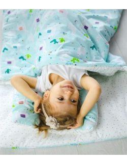 Śpiworek z ociepleniem Junior bawełna Lamy + poduszka