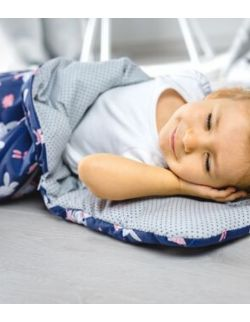 Śpiworek z ociepleniem Junior bawełna Króliczki + poduszka