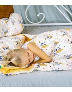 Śpiworek z ociepleniem Junior bawełna Łapacze snów + poduszka