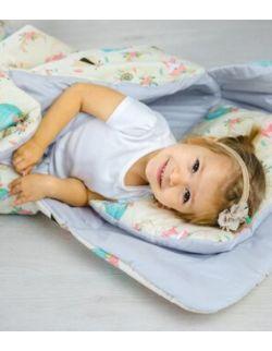 Śpiworek z ociepleniem Junior bawełna Jeże i balony