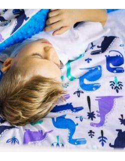 poduszka do snu/siedzenia/podróży bawełna / minki Dinozaury