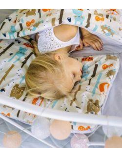 poduszka duża do łóżka/siedzenia/podróży bawełna Las pomarańczowy