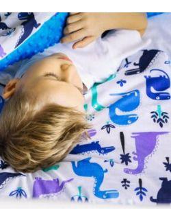 poduszka duża do łóżka/siedzenia/podróży bawełna / minki Dinozaury