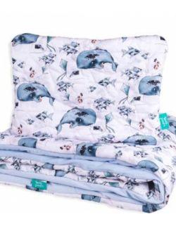 poduszka duża do łóżka/siedzenia/podróży bawełna / velvet Ryby