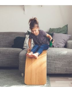 Deska do balansowania Original Bamboo z filcem, Baby Mouse