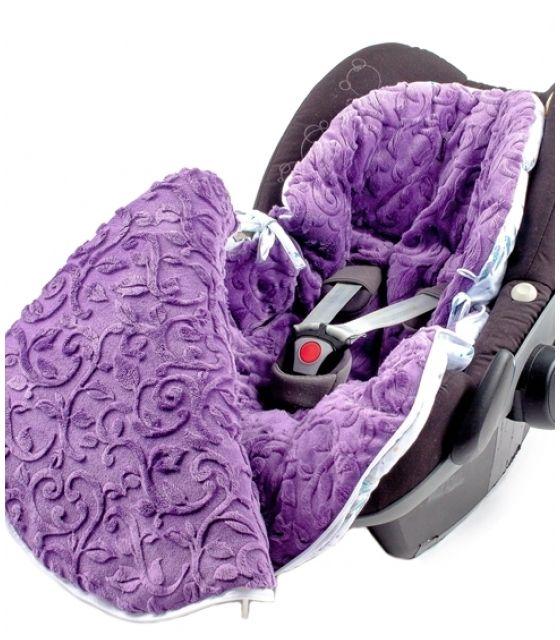Śpiworek do wózka 5w1  dla dzieci od 0-18 m-cy łapacze&vine violet