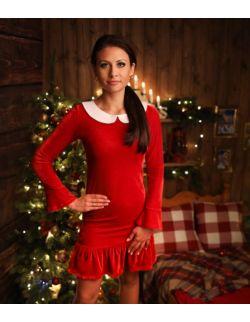 Sukienka BABY czerwona dla mamy