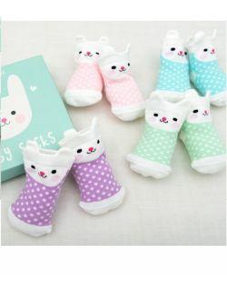 Skarpetki dla niemowląt 4 pary, Króliczki