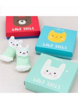 Skarpetki dla niemowląt 4 pary, Kotki