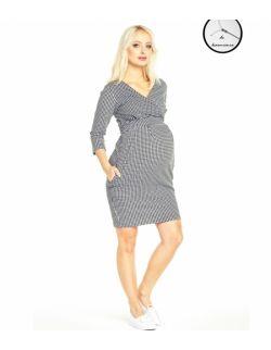 Sukienka ciążowa i do karmienia grove cheerful check