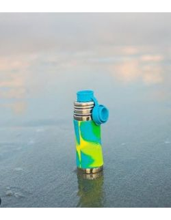 Termobutelka 260 ml, błękitna swirl