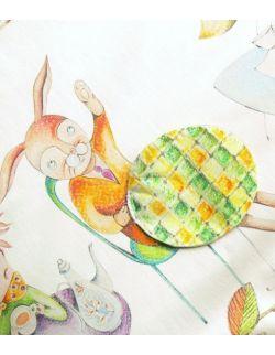 Kocyk Przedszkolaka Alicja w Krainie Czarów, 125x150 cm