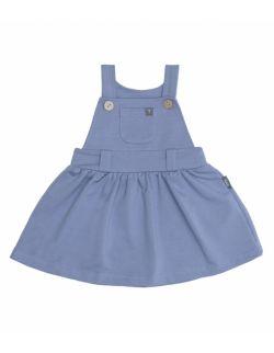Sukienka ogrodniczka z bawełny organicznej -niebieska