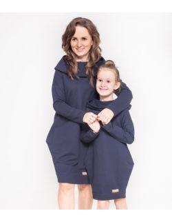 Komplet tunik dla mamy i córki - Dark Blue