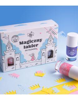 Zestaw magicznych lakierów do paznokci dla dzieci - odcień perłowy fiolet i róż