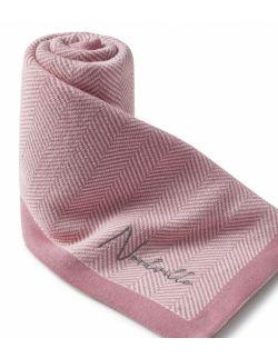 Całoroczny kocyk - Jodełka różowa