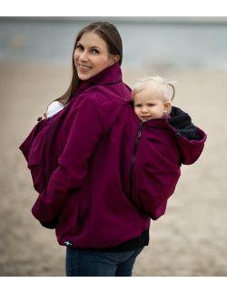 EVEREST Kurtka softshell ciążowa oraz do noszenia dziecka - śliwka