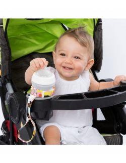 Uniwersalny pasek, uchwyt do butelek, kubków i maskotek(Poppy)– Ah Goo Baby
