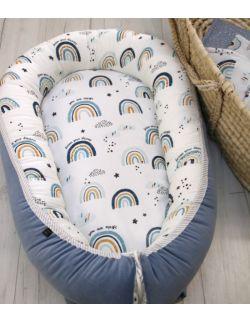 Kokon, gniazdko niemowlęce Rainbow Blue