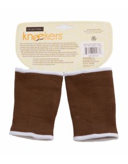 Antypoślizgowe ochraniacze na kolana KNEEKERS® dla raczkujących niemowląt -brązowe, łapki, pulchne kolanka- Ah Goo Baby