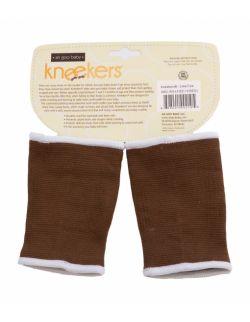 Antypoślizgowe ochraniacze na kolana KNEEKERS® dla raczkujących niemowląt -brązowe, bąbelki, szczupłe kolanka- Ah Goo Baby