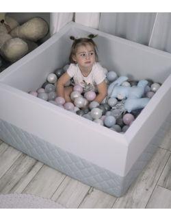 Suchy basen Velvet z piłeczkami - gray