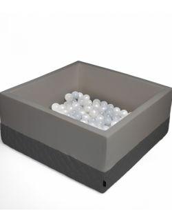 Suchy basen Velvet z piłeczkami - dark gray