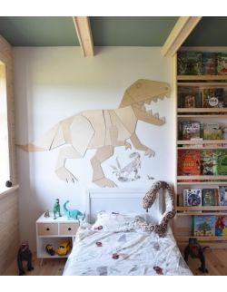Dinozaur T-Rex dekoracja ścienna origami XL