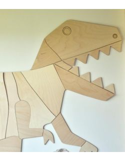Dinozaur T-Rex dekoracja ścienna origami M